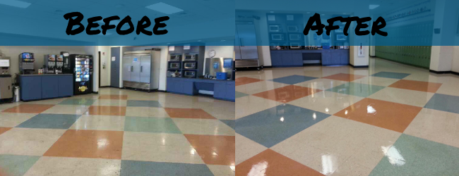 professional vct floor stripping and waxing cherry hill
